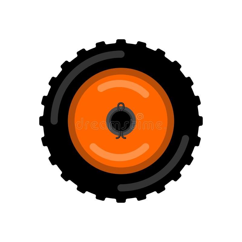 Ruota del trattore Illustrazione di vettore del carrello della ruota illustrazione di stock