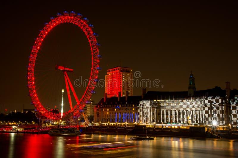 Ruota dell'occhio di Londra fotografia stock