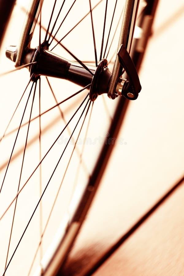 Ruota della bici fotografie stock