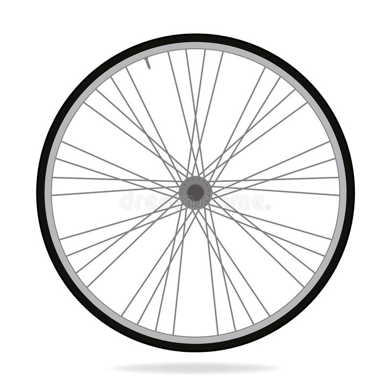Ruota della bici - vector l'illustrazione su fondo bianco royalty illustrazione gratis