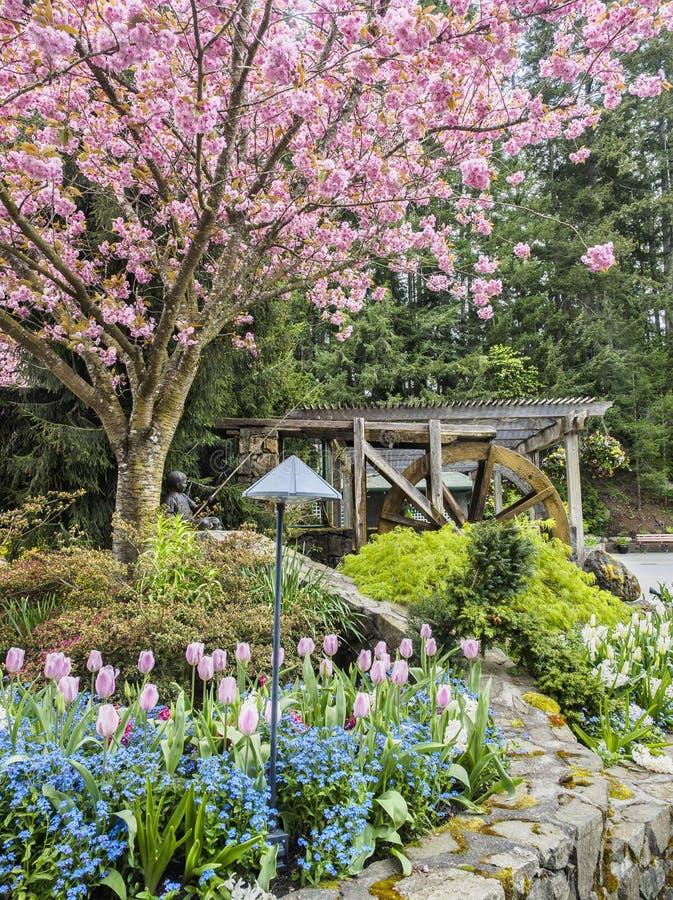 Ruota dentro i giardini di Butchart, Victoria British Columbia fotografia stock libera da diritti