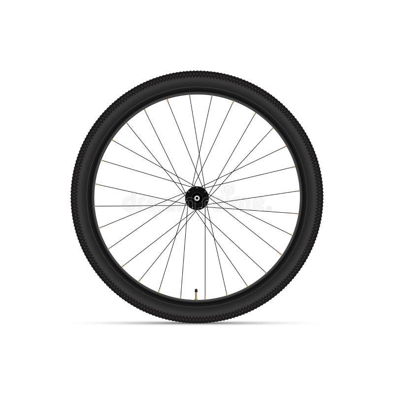 Ruota di bicicletta della montagna illustrazione realistica di vettore 3D immagini stock