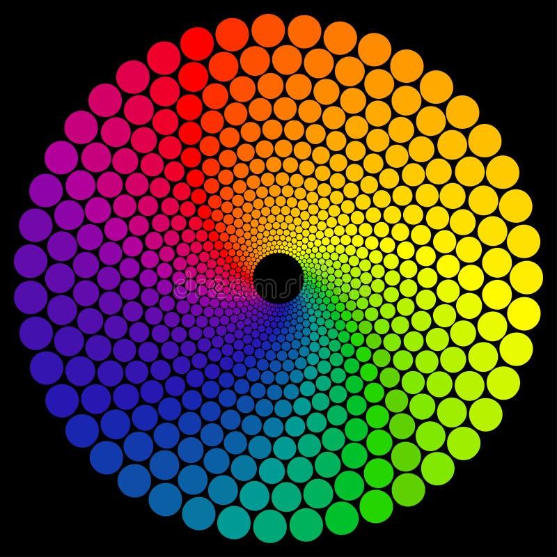Ruota di colore illustrazione vettoriale