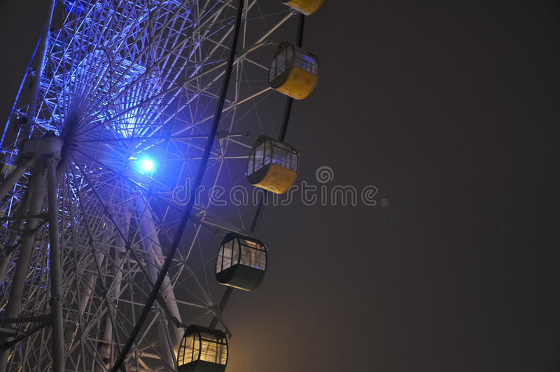 Ruota di ferris fissa con un cielo nero, ¼ ŒBeijing, Cina del parkï di divertimento di Shijingshan immagine stock