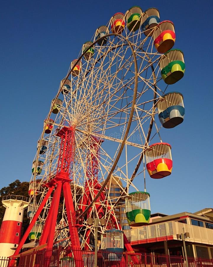 Ruota di ferris di Luna Park immagini stock libere da diritti