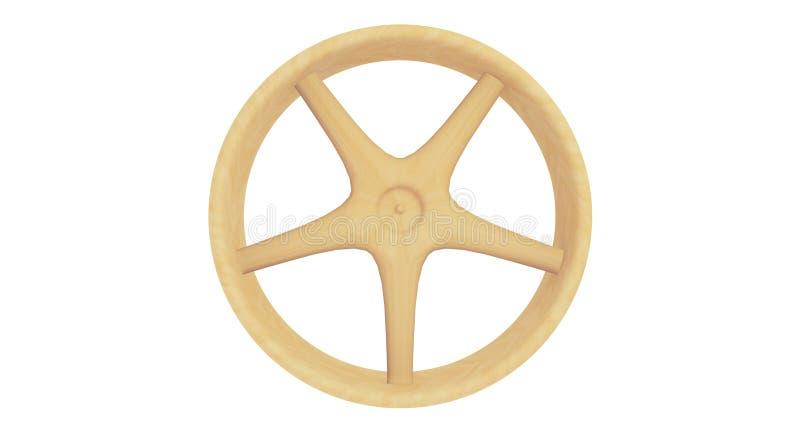 ruota di legno di 3D Spoked fotografia stock libera da diritti
