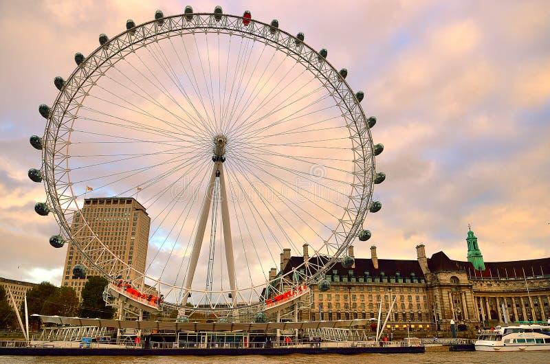 Ruota di millennio (occhio) di Londra, Londra, Regno Unito immagine stock