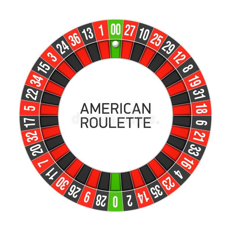 Ruota di roulette americana illustrazione vettoriale