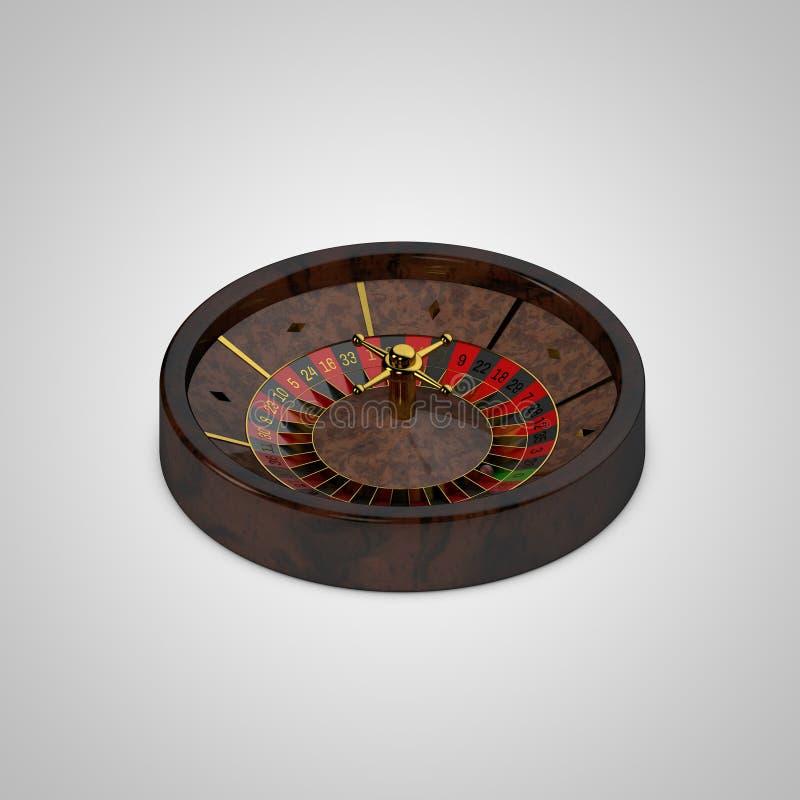 Ruota di roulette del casinò Isolato su priorità bassa bianca renderin 3D royalty illustrazione gratis