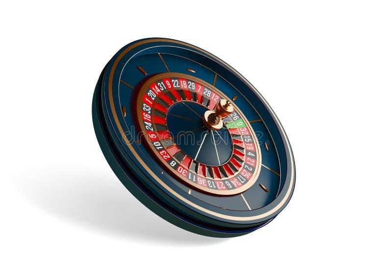 Ruota di roulette di lusso del casinò isolata su fondo bianco illustrazione realistica di vettore 3D Roulette online del casinò royalty illustrazione gratis