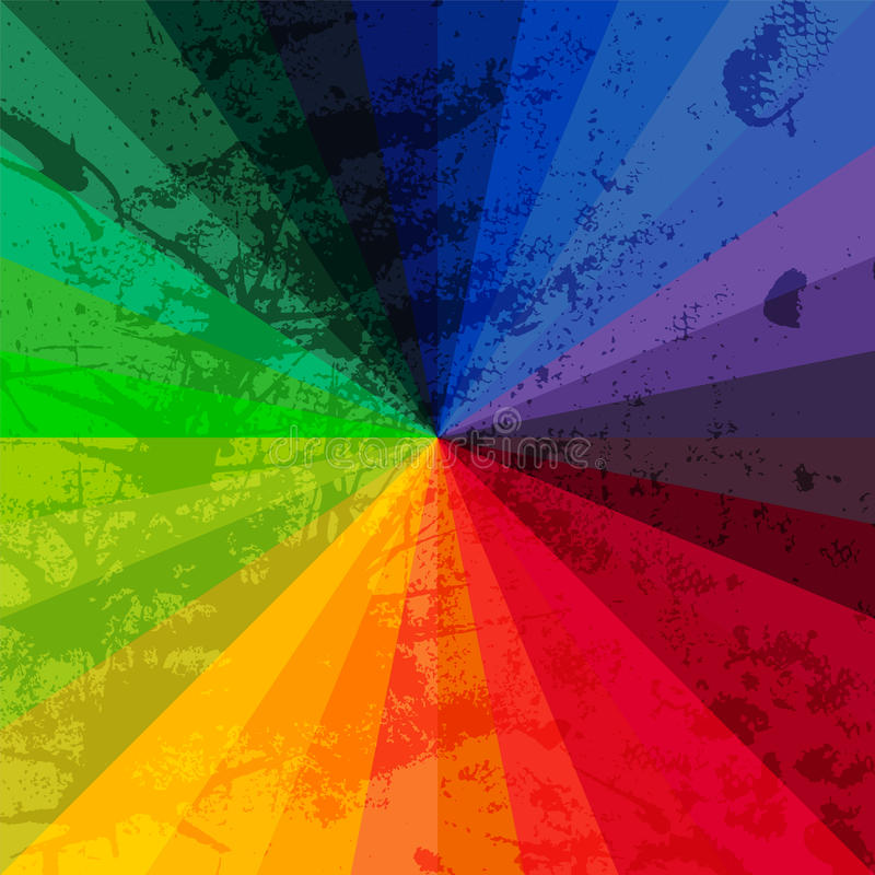 Ruota di spettro fatta dei mattoni BAC di lerciume dello spettro di colori dell'arcobaleno illustrazione vettoriale