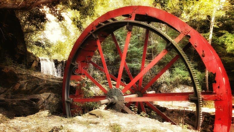 Ruota idraulica fotografia stock