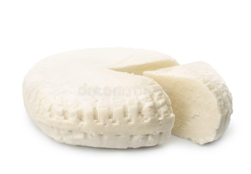 Ruota messa in salamoia fresca del formaggio fotografia stock