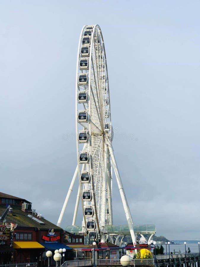 Ruota panoramica - Seattle immagine stock