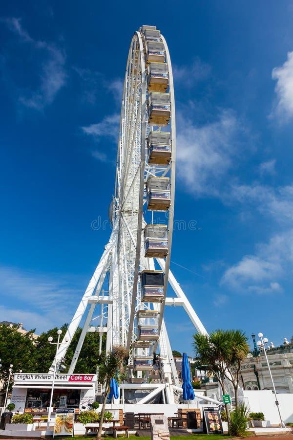 Ruota Torquay di Riviera di inglese fotografia stock libera da diritti