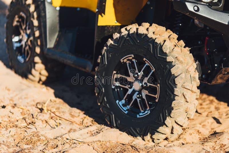Ruote della bici ATV del quadrato fotografia stock libera da diritti