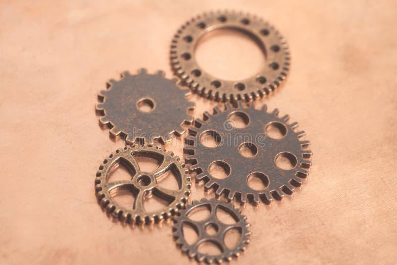 Ruote di ingranaggi del metallo fotografia stock libera da diritti