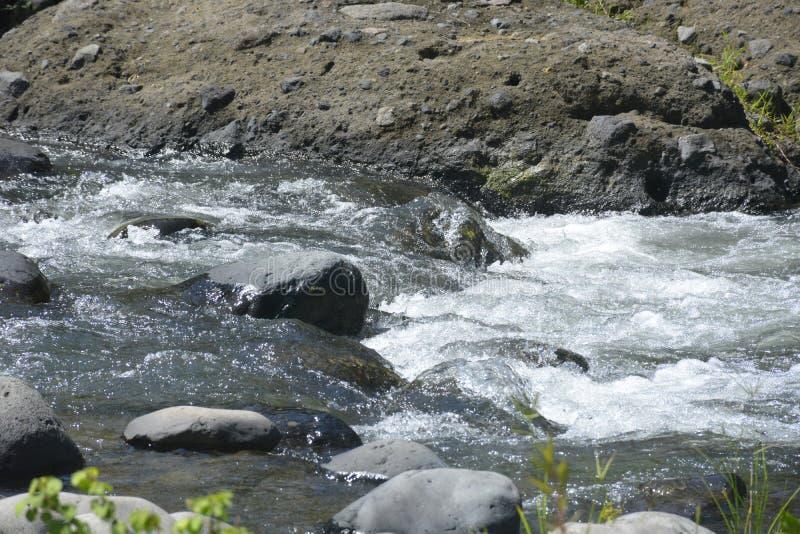 Ruparan flod som lokaliseras på barangay Ruparan, Digos stad, Davao del Sur, Filippinerna royaltyfri bild