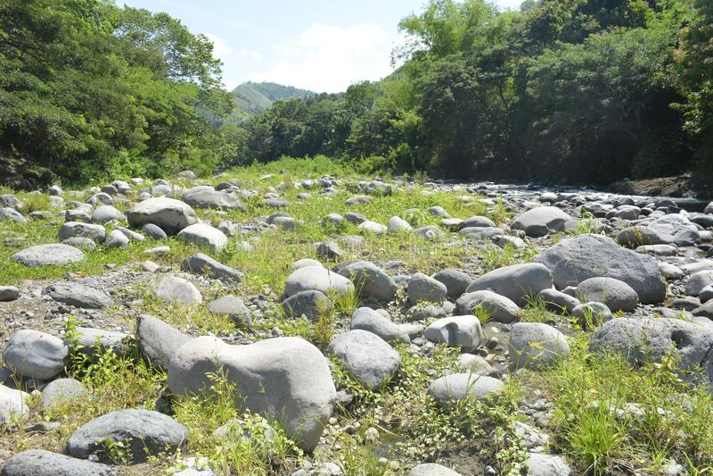 Ruparan-Flussbett gelegen bei barangay Ruparan, Digos-Stadt, Davao del Sur, Philippinen lizenzfreies stockfoto