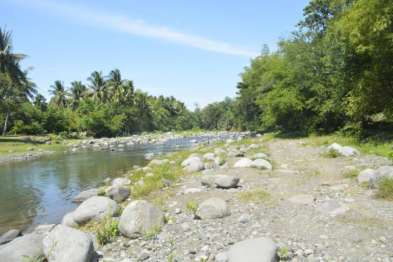 Ruparan-Riverbank gelegen bei barangay Ruparan, Digos-Stadt, Davao del Sur, Philippinen stockbilder
