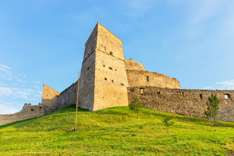 Rupea Castle near Brasov. Medieval fortress royalty free stock photography