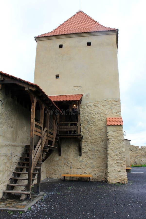 Rupea fästning (försvartornet) royaltyfri bild
