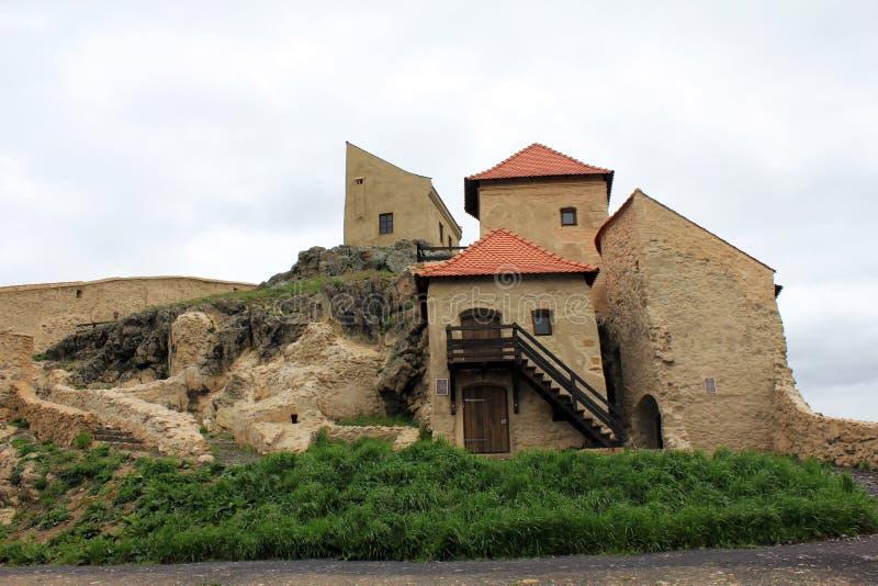 Rupea fästning (hus) royaltyfri bild