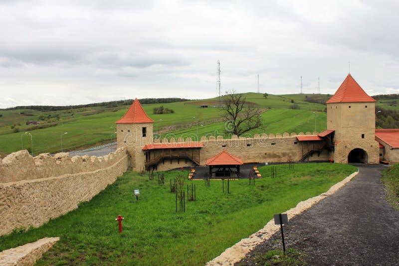 Rupea fästning (interiourdomstolen) arkivfoton