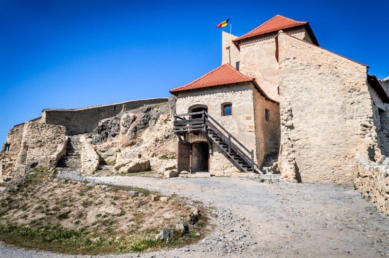 Rupea fästning, Transylvania, Rumänien arkivbild