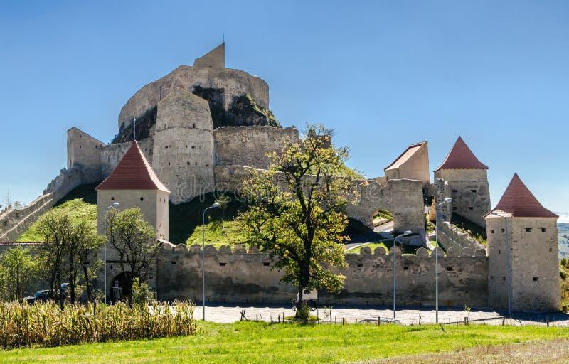 Rupea-Festung, mittelalterlicher Markstein von Siebenbürgen lizenzfreie stockfotos
