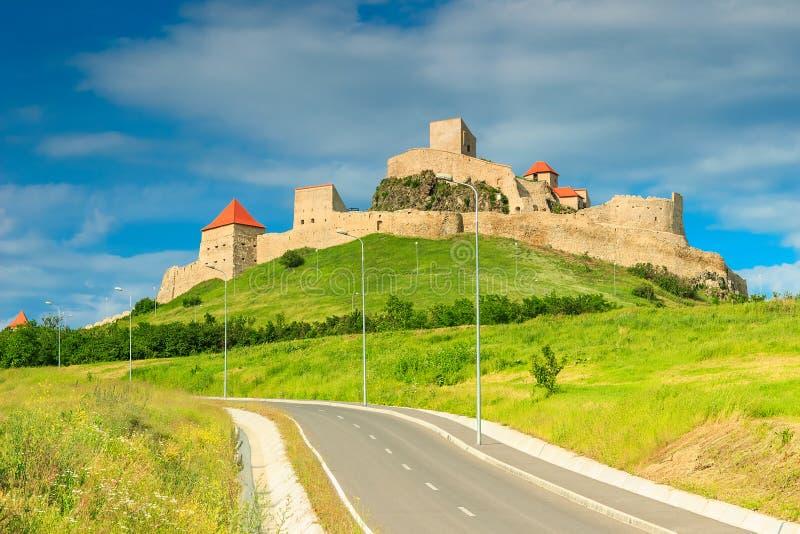 Rupea forteca, fortyfikacja na wzgórzu, Brasov, Transylvania, Rumunia, Europa obraz royalty free