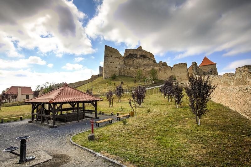 Rupea fortress, Romania stock images