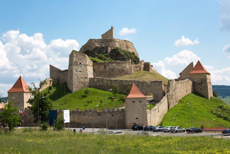 Rupea gammal citadell i Transylvania Rumänien arkivfoto