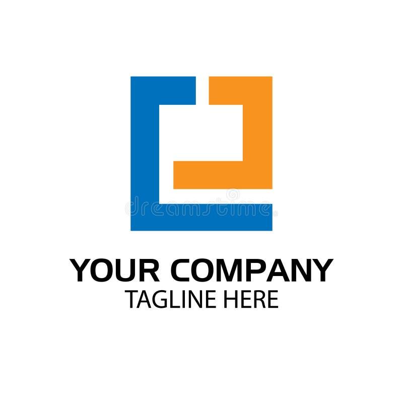 EJ logo template, EJ letter, flat design. vector royalty free illustration