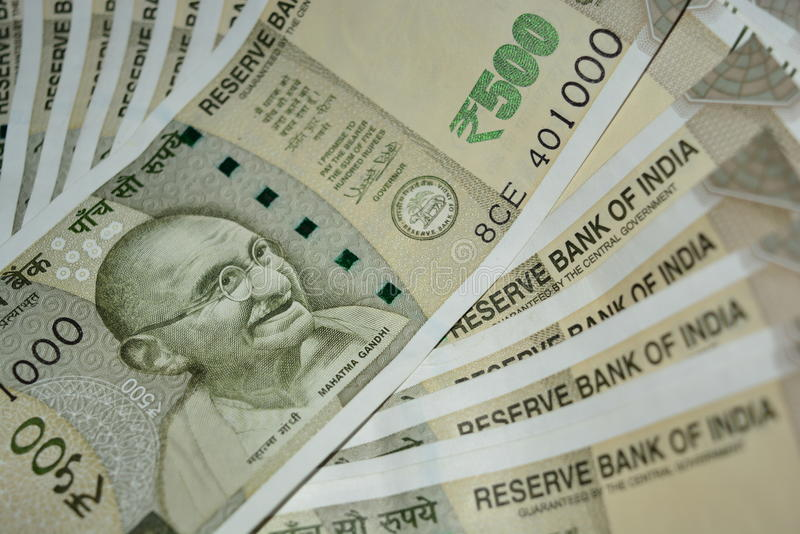 Rupees. Indian rupees 500 notes in floor royalty free stock photos