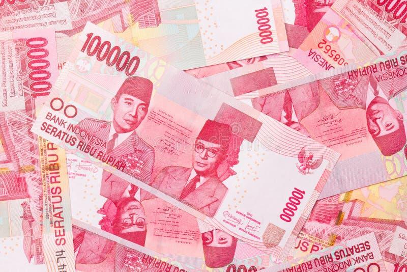 Rupia indonésia imagens de stock