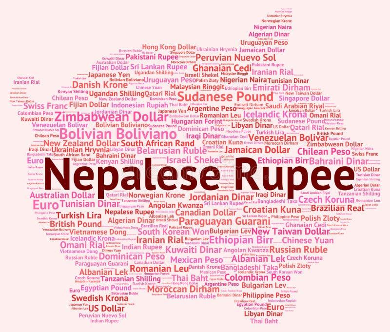 A rupia nepalesa representa a troca e a cunhagem de moeda ilustração royalty free