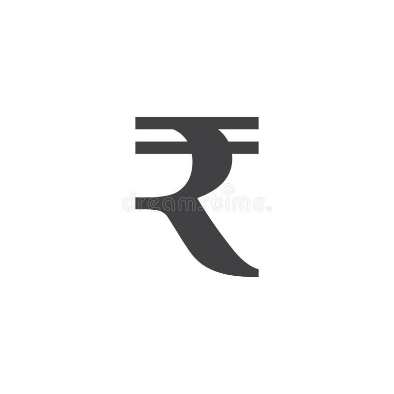 Rupia symbol podpisuje, stała logo ilustracja, piktogram jest ilustracji