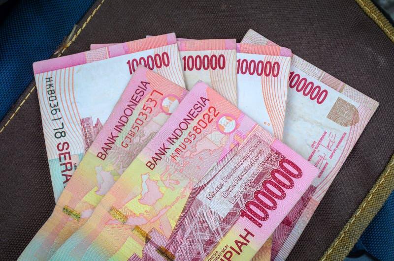 Rupii Indonezja pieniądze szczegół zdjęcie stock