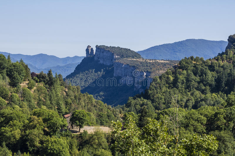 Rupit, Barcelona. Rupit i Pruit is a municipality in the comarca of Osona in Catalonia, Spain stock photos