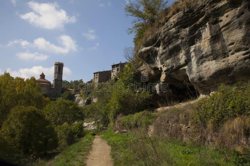 Rupit i Pruit - Middeleeuws Catalaans dorp royalty-vrije stock fotografie