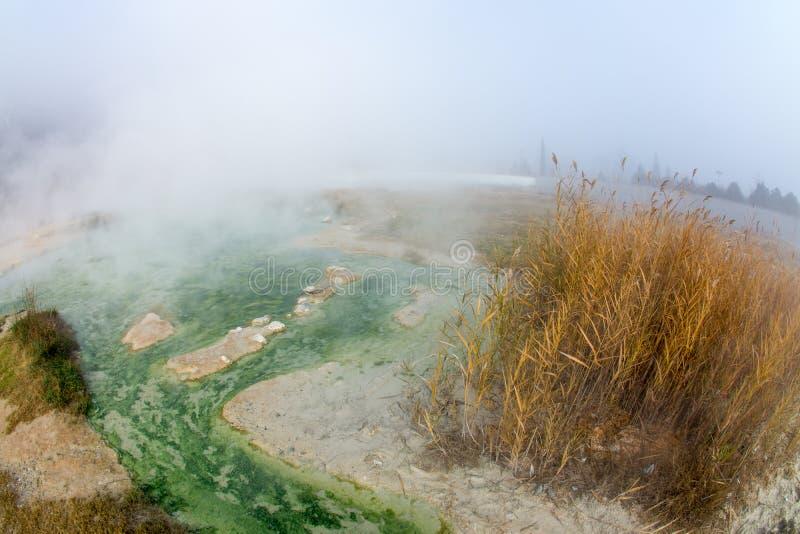 Rupite in Bulgaria, acqua calda immagine stock libera da diritti