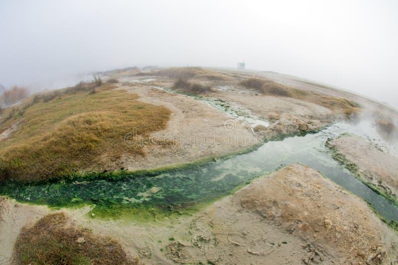 Rupite, Bulgaria, acqua calda immagini stock