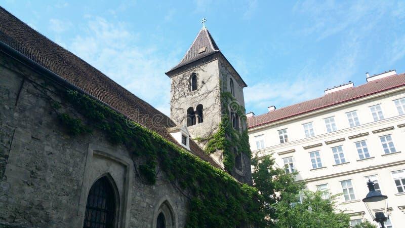 Ruprechtskirche Wenen Oostenrijk royalty-vrije stock foto