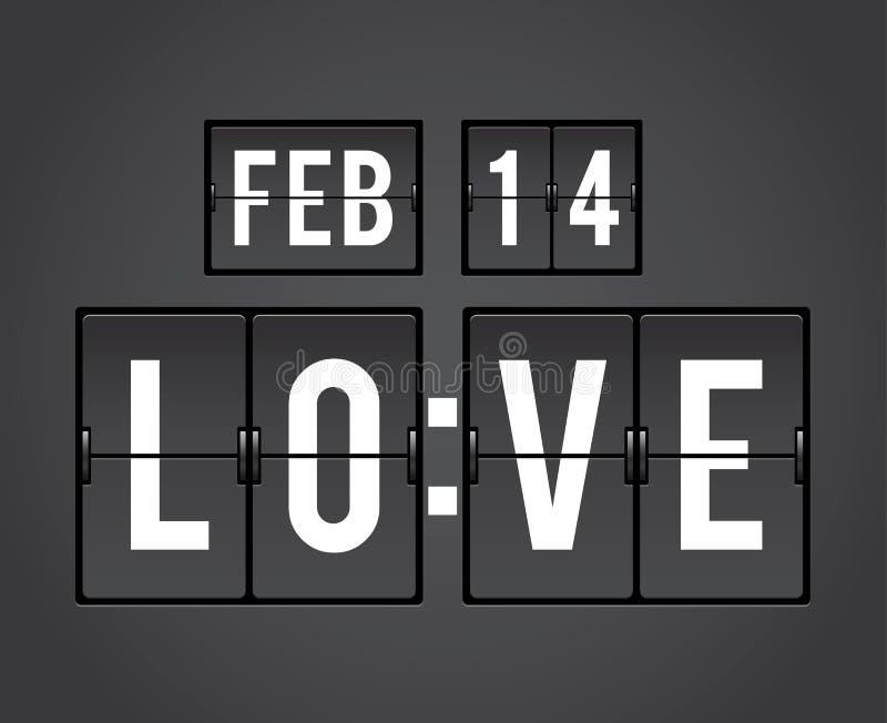 Rupteur d'allumage de secousse de compte à rebours de jour de Valentines illustration stock
