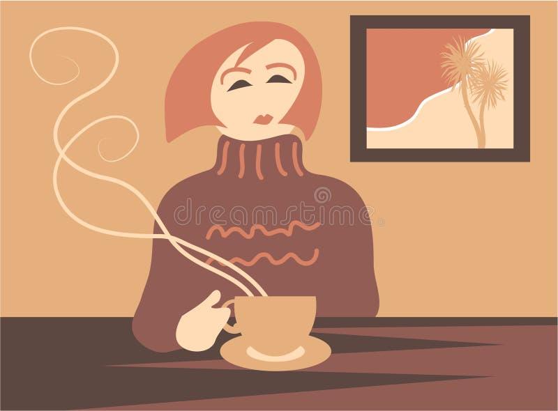 Ruptura de café ilustração stock