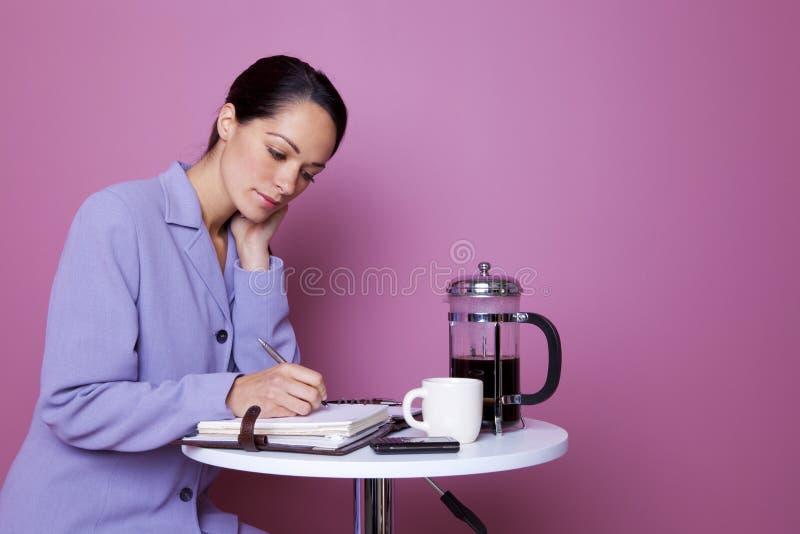 Ruptura de café de trabalho foto de stock