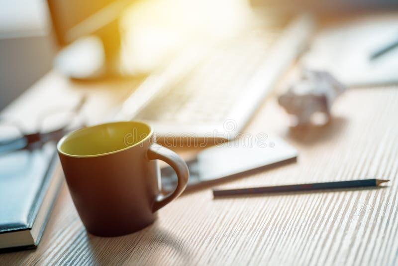 Ruptura de café no estúdio do architecrure e do design de interiores imagem de stock royalty free