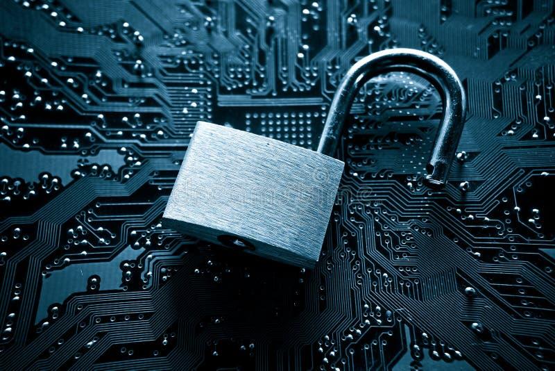 Ruptura de segurança informática fotografia de stock royalty free