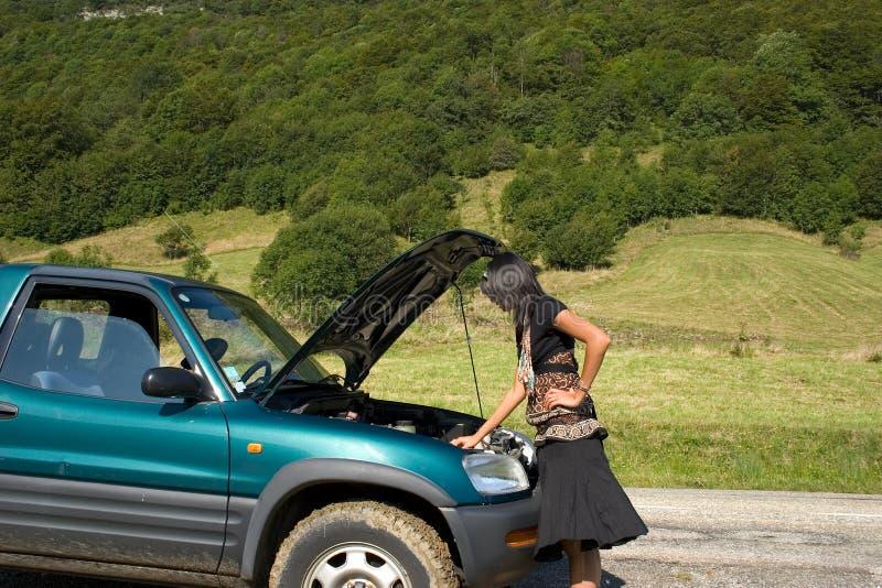 Ruptura del coche fotografía de archivo libre de regalías